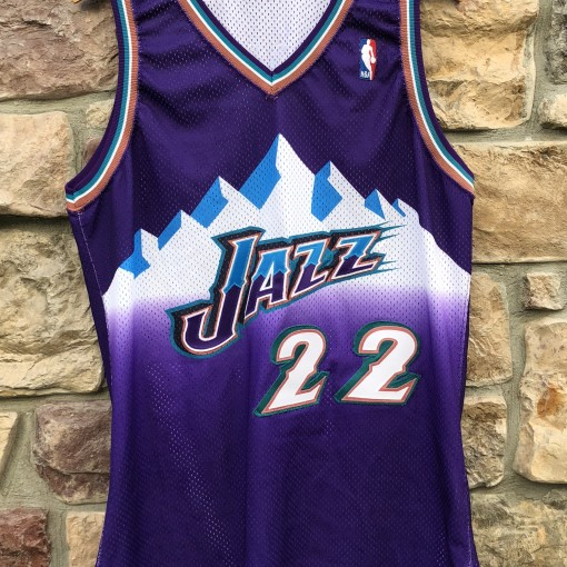 1997-98 Pro Cut authentic Utah Jazz Nate Erdmann Pro Cut NBA jersey size 44 +2