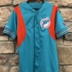 90's Miami Dolphins Majestic Baseball Jersey size Large