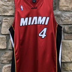 2003-04 Caron Butler Miami Heat Authentic Nike red alternate NBA jersey size 48 XL