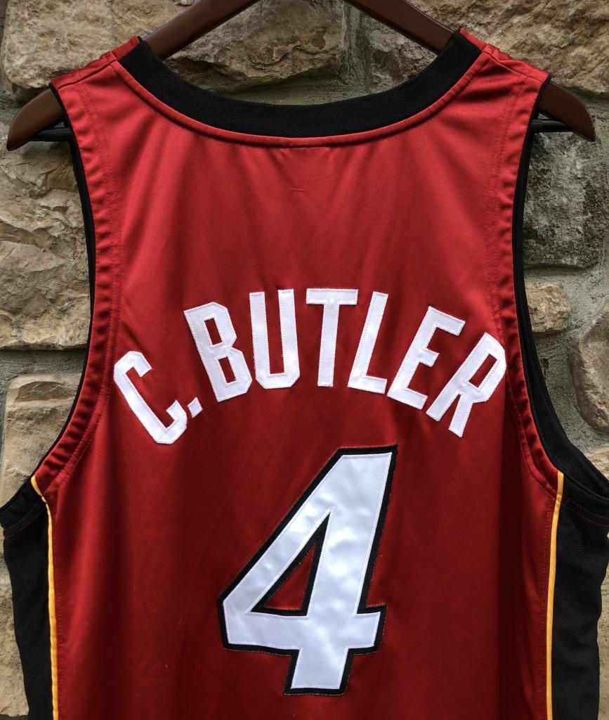 2003-04 Caron Butler Miami Heat Authentic Nike red alternate NBA jersey  size 48 XL 06d1bd84d