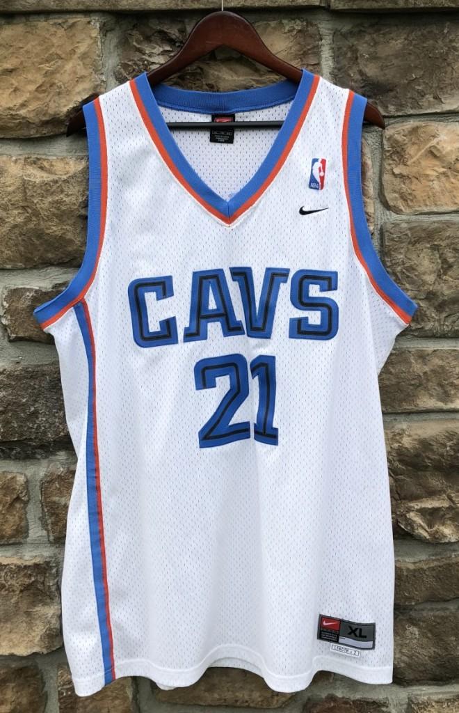 23c7fe713ec 2002 Cleveland Cavaliers Darius Miles Nike swingman vintage NBA jersey size  XL