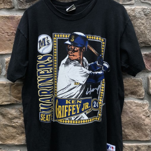1991 Seattle Mariners Ken Griffey JR Vintage Nutmeg Mills MLB T shirt