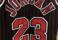 1996 Michael Jordan Chicago Bulls black pinstripe authentic vintage Champion NBA jersey size 48 XL