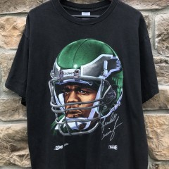 1992 Randall Cunningham Philadelphia Eagles vintage Salem Sportswear helmet t shirt size xl 90's