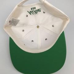 Vintage Deadstock 90's Nike USA White green black stripe strap back hat