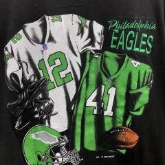 1993 Philadelphia Eagles Nutmeg Randall Cunningham Keith Byars jersey t shirt size large