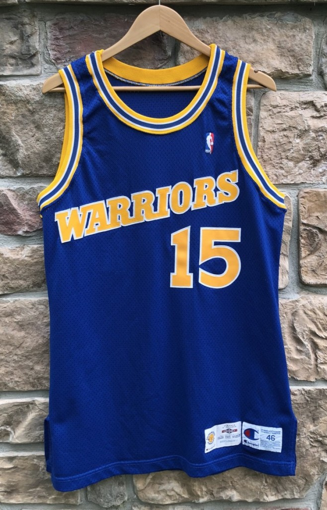 newest 679af a6bc7 1993-94 Latrell Sprewell Golden State Warriors Authentic Pro Cut Champion  NBA Jersey Size 46