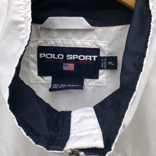 90's Polo Sport Ralph Lauren USA Windbreaker jacket white size XL