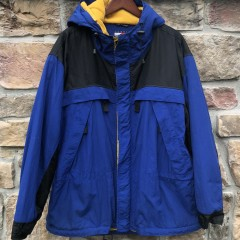 90's Tommy Hilfiger Jacket blue yellow size large