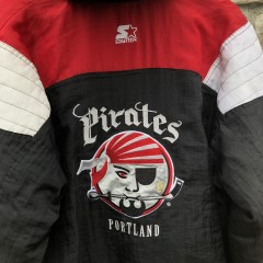 90's Portland Pirates AHL Starter Pullover Jacket Size Medium