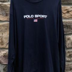 90's Polo Sport Ralph Lauren Classic spell out logo shirt size XXL