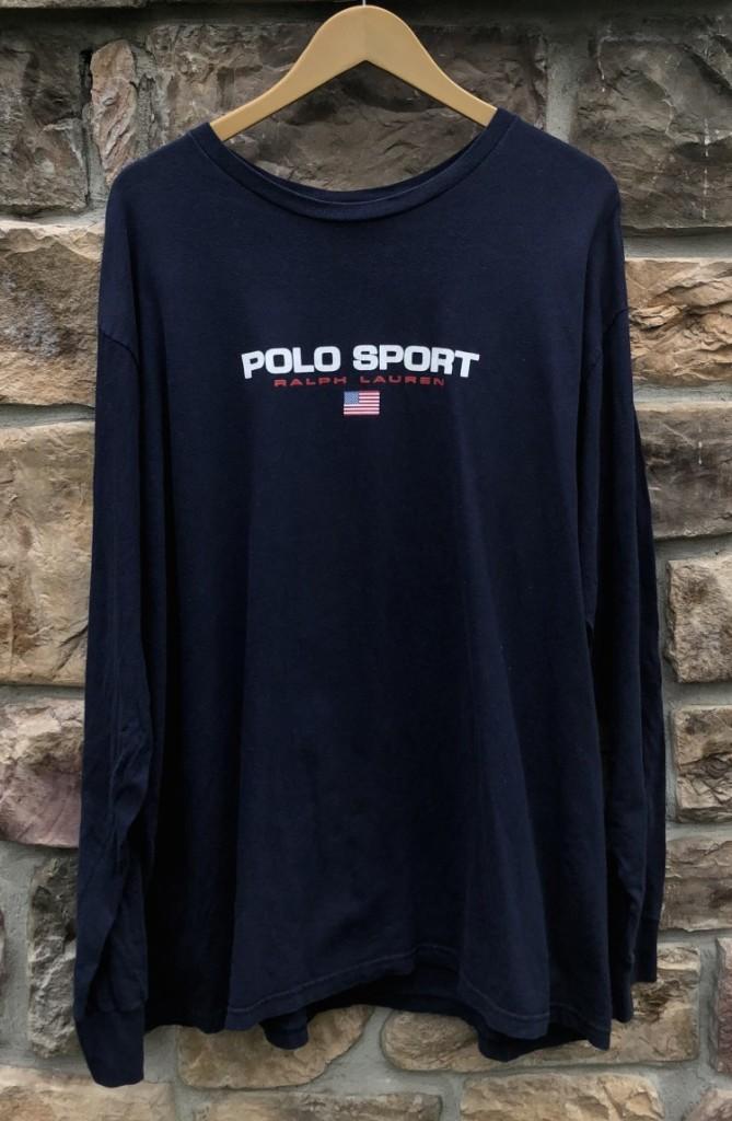 2d69afe75d8a72 90's Polo Sport Ralph Lauren Classic spell out logo shirt size XXL