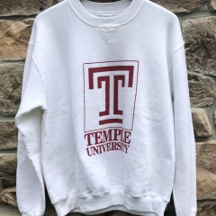 90's Temple University Owls NCAA Crewneck sweatshirt Russell Athletic
