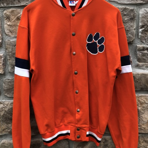 game worn vintage 90's Clemson tigers NCAA warm up jacket size medium
