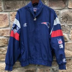 90's New England Patriots Pro Line authentic windbreaker jacket size Large logo athletic