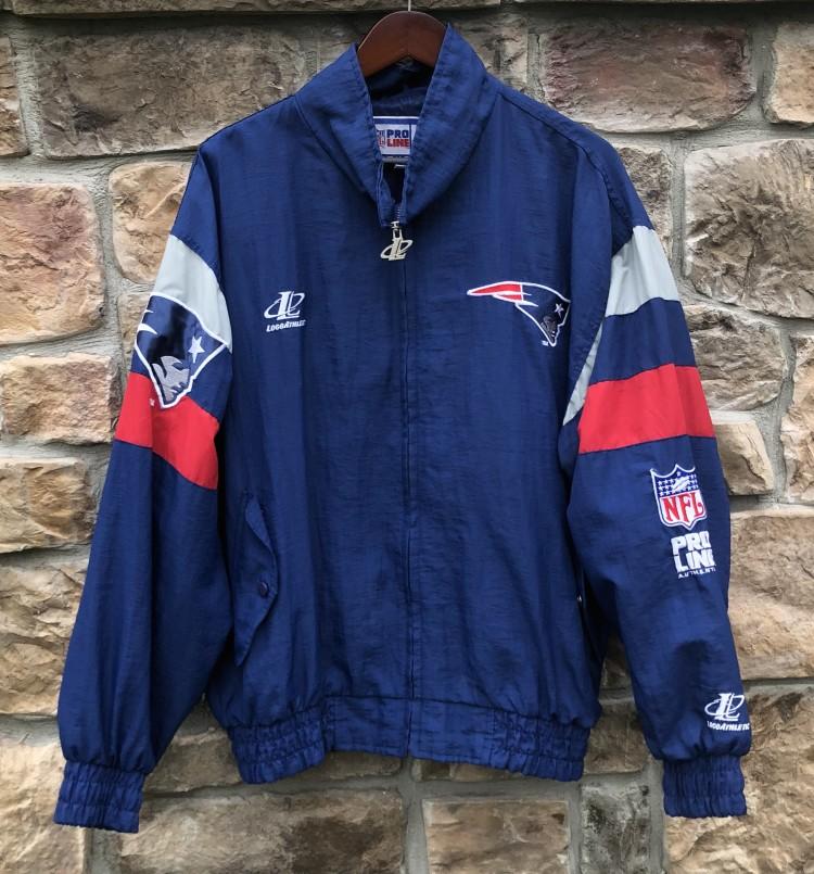 save off c738f 02652 90's New England Patriots Pro Line Authentic Logo Athletic NFL Jacket Size  Large