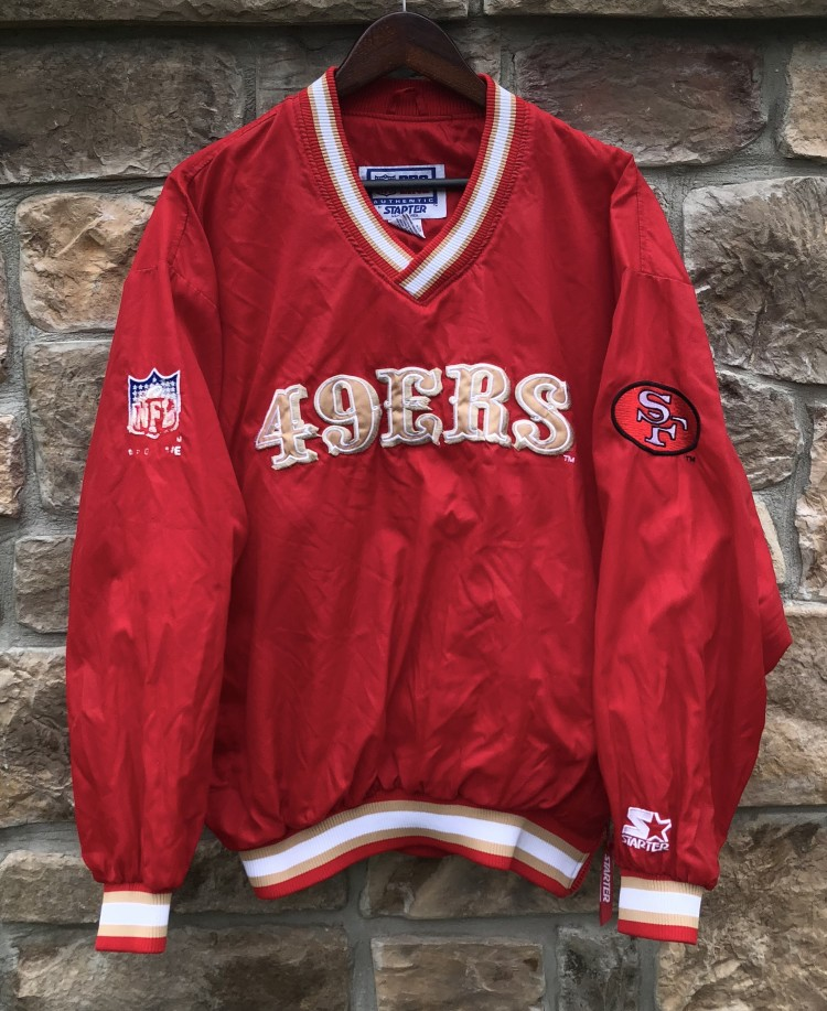 reputable site b3110 c9c49 90's San Francisco 49ers Starter Pullover NFL Jacket Size Large