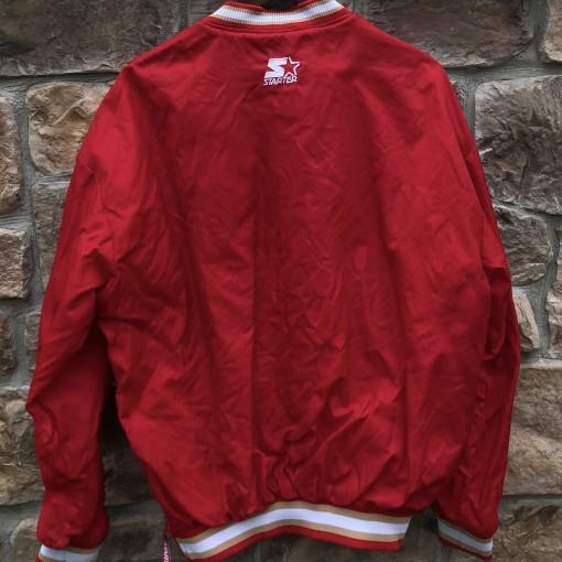 90's San Francisco 49ers starter pullover jacket nfl size large
