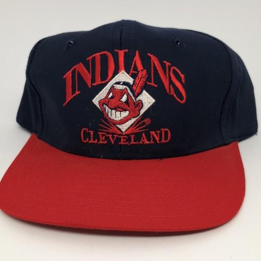 90's Cleveland Indians Signature MLB snapback hat deadstock vintage