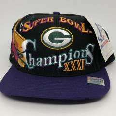 vintage Green Bay Packers Super Bowl XXXI champions snapback hat nfl