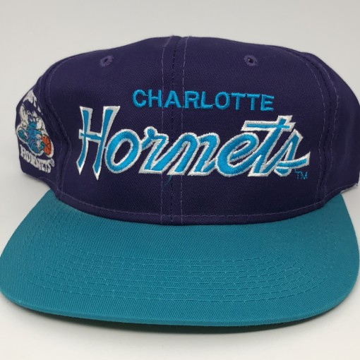 90's Charlotte Hornets Sports Specialties Script NBA snapback hat vintage