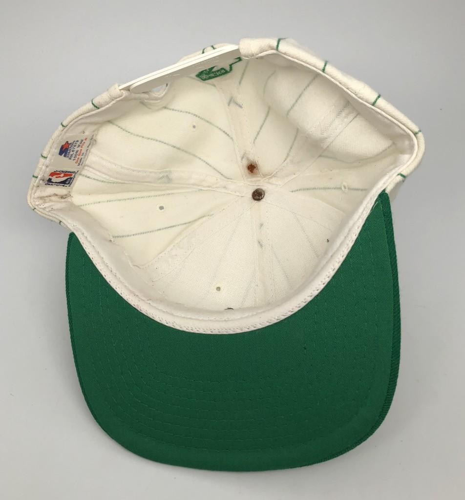 2eedfe4b3fb 90 s Boston Celtics Starter pinstripe vintage NBA snapback hat