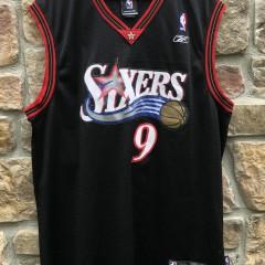 2006 Andre Iguodala Philadelphia Sixers Reebok NBA Swingman Jersey size XL