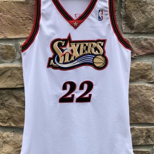1997-98 Brian Shaw Game Worn Philadelphia Sixers  Champion NBA jersey size 46