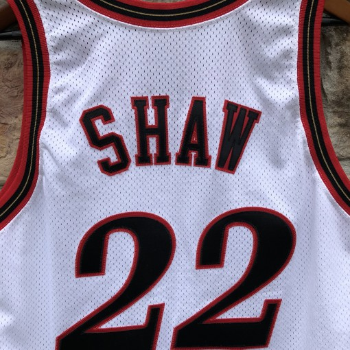 1997-98 Brian Shaw Game Worn Philadelphia Sixers  Champion NBA jersey size 46