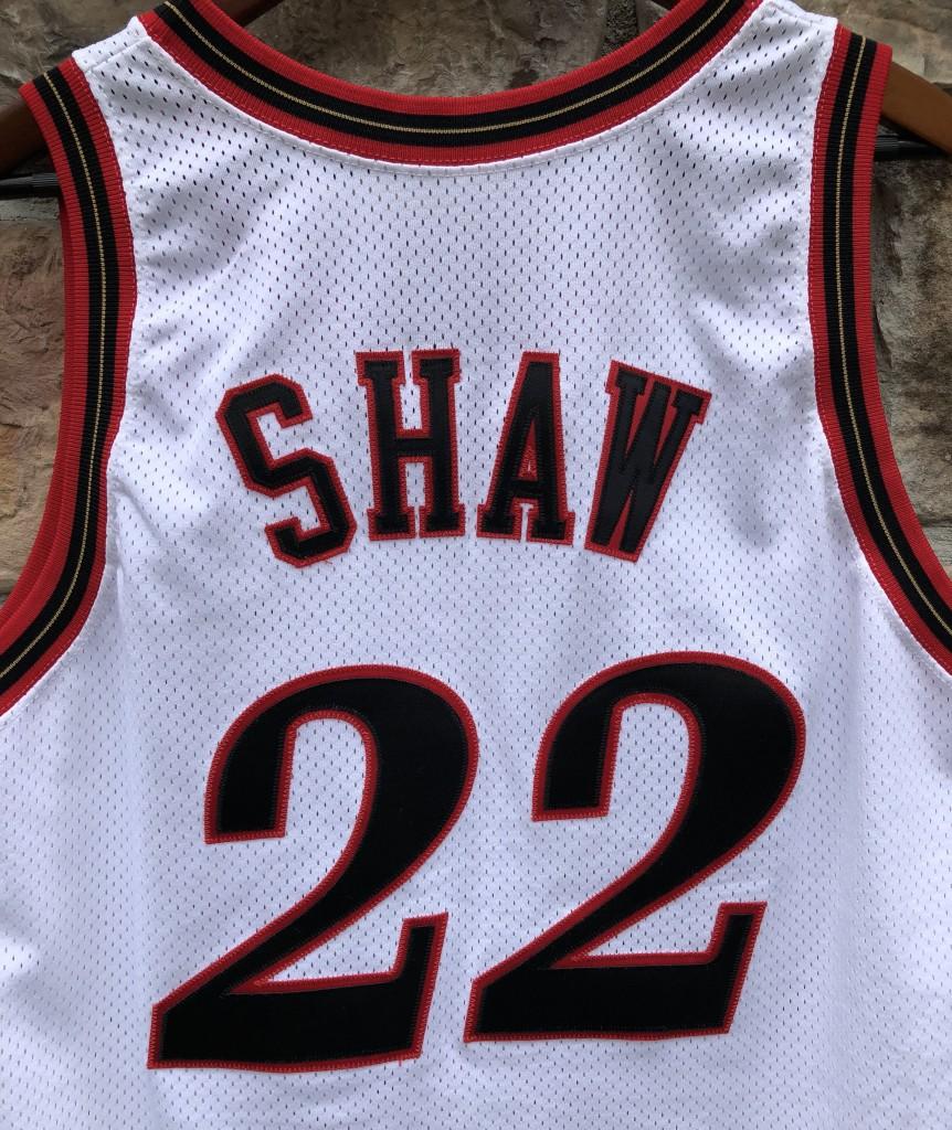 5a5dc09297f 1997-98 Brian Shaw Game Worn Philadelphia Sixers Champion NBA jersey size 46