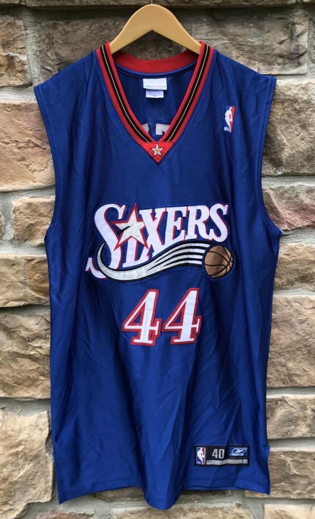 separation shoes a710e 263d3 2001 Derrick Coleman Philadelphia Sixers Reebok Authentic NBA Jersey Size 40