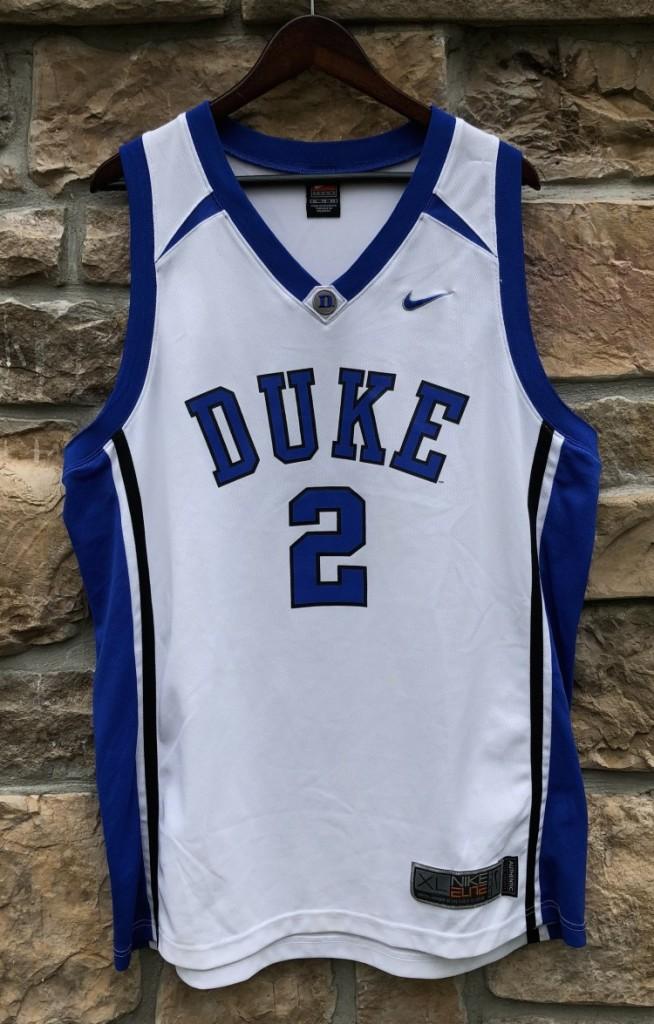 best sneakers 399ec 0d74a 00's #2 Duke University Blue Devils Nike NCAA Jersey Size XL