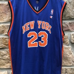 2001 Marcus Camby New York Knicks Champion NBA Jersey size 48