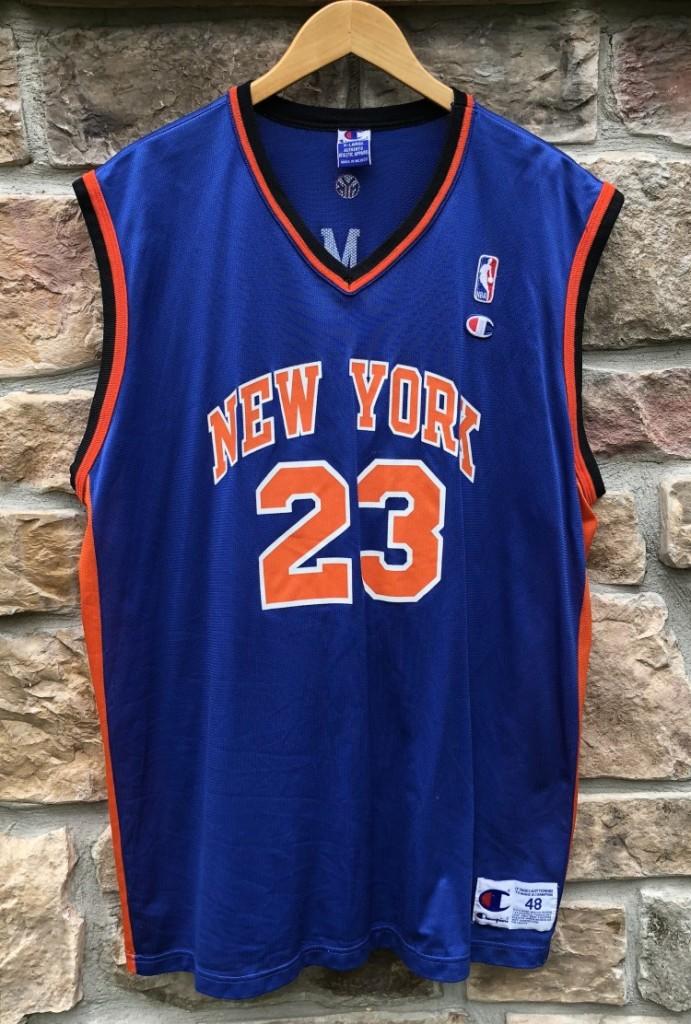 best website 24b0c 17b16 2001 Marcus Camby New York Knicks Champion NBA Jersey Size 48