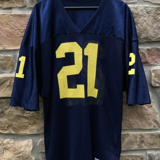 1991 Desmond Howard University of Michigan Wolverines Russell NCAA football jersey size XL