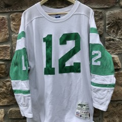 90's Retro Joe Namath New York Jets Champion Throwbacks vintage collection NFL sweater jersey size Large