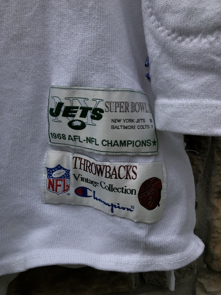 low priced 61ead b800a 90's Joe Namath New York Jets Champion NFL Sweater Jersey Size Large