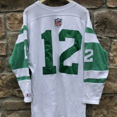 90's Retro Joe Namath New York Jets Champion Throwbacks vintage collection NFL sweater jersey size Large