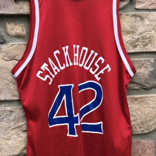 1996 Jerry Stackhouse Philadelphia Sixers 76ers Champion NBA jersey size 44 large
