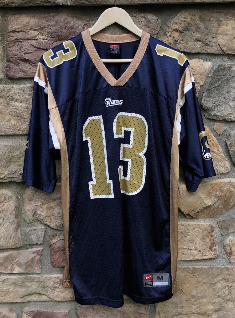 hot sale online ffd15 83a50 2001 Kurt Warner St. Louis Rams Nike NFL Jersey Size Medium