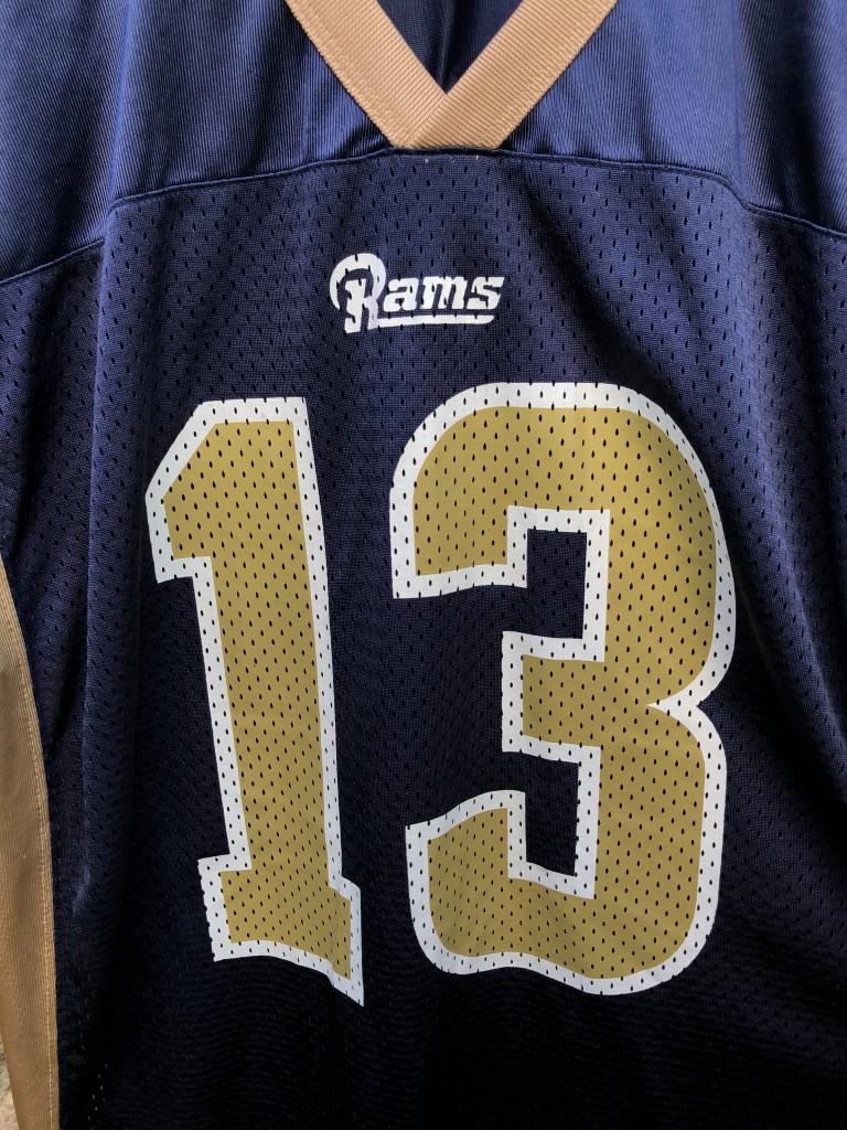 02150e80d 2001 Kurt Warner St. Louis rams Nike NFL vintage jersey size Medium