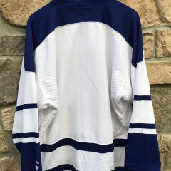 90's Toronto Maple Leafs Starter Alternate White lace up NHL hockey jersey size large
