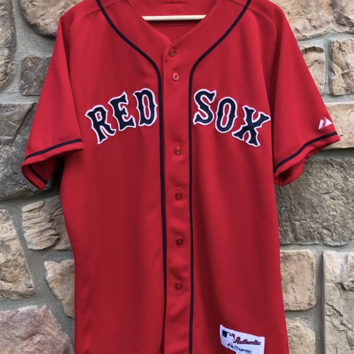00's Manny Ramirez Boston Red Sox Authentic red alternate MLB jersey size 44 large