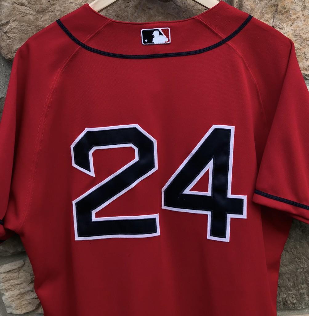 2003 Manny Ramirez Boston Red Sox Majestic Authentic Alternate MLB