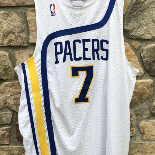 00's Retro Indiana Pacers Jermaine O'Neal Reebok Hardwood classic authentic NBA jersey size 52