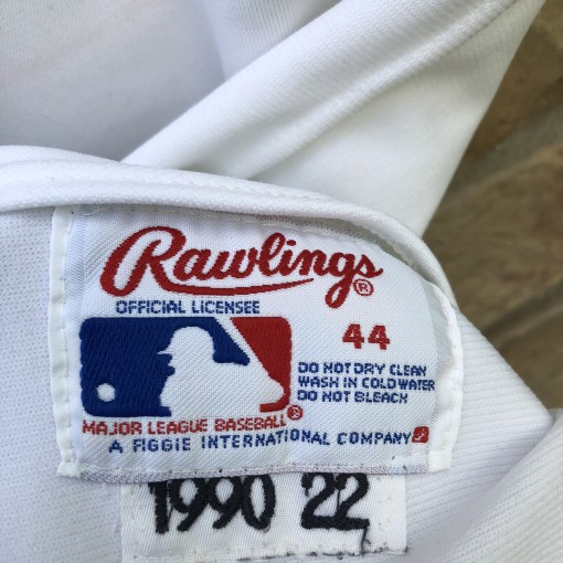 1990 Will Clark San Francisco Giants Rawlings Pro Cut MLB Jersey size 44 vintage