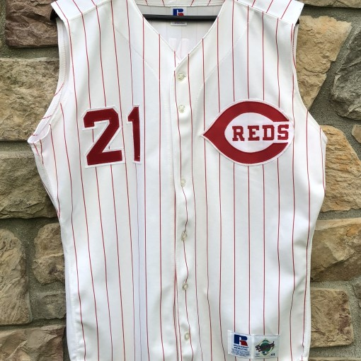 1995 Deion Sanders Cincinnati Reds Russell Diamond Collection Authentic MLB Jersey size 44 large