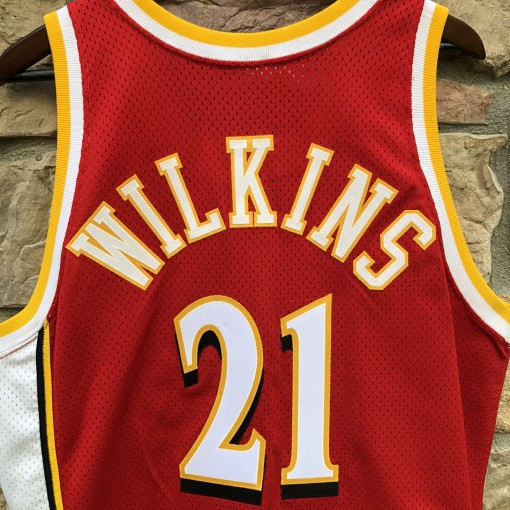 1993-94 Dominique Wilkins Atlanta Hawks Pro Cut Champion Authentic NBA Jersey size 42 large