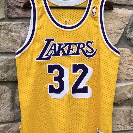 f94a6519469 1990 Los Angeles Lakers Magic Johnson Champion Authentic NBA Jersey size 44  large