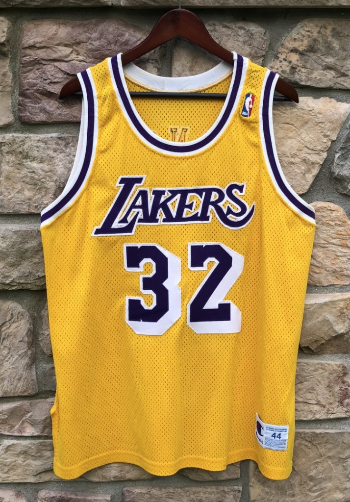 33b54fbf8e5 1990 Los Angeles Lakers Magic Johnson Champion Authentic NBA Jersey size 44  large
